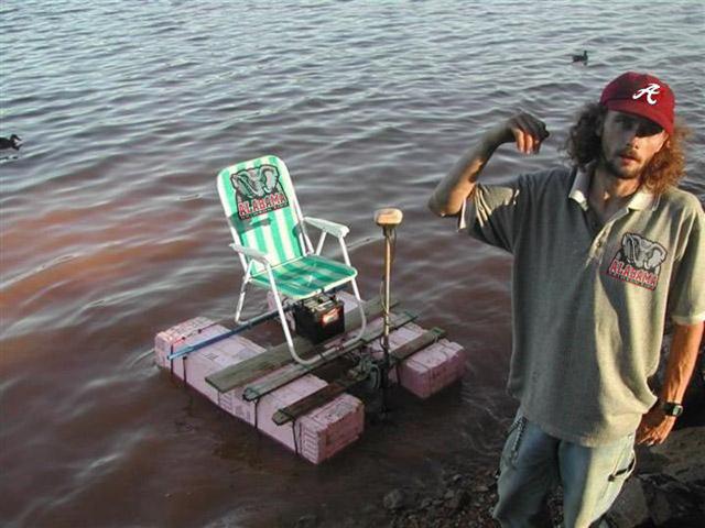 Alabama lawn chair raft