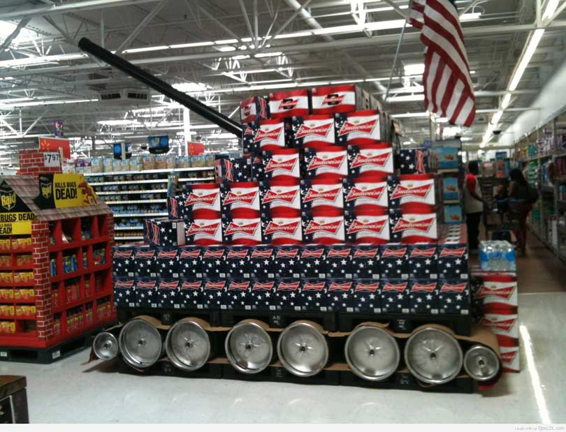 Budweiser Beer Tank