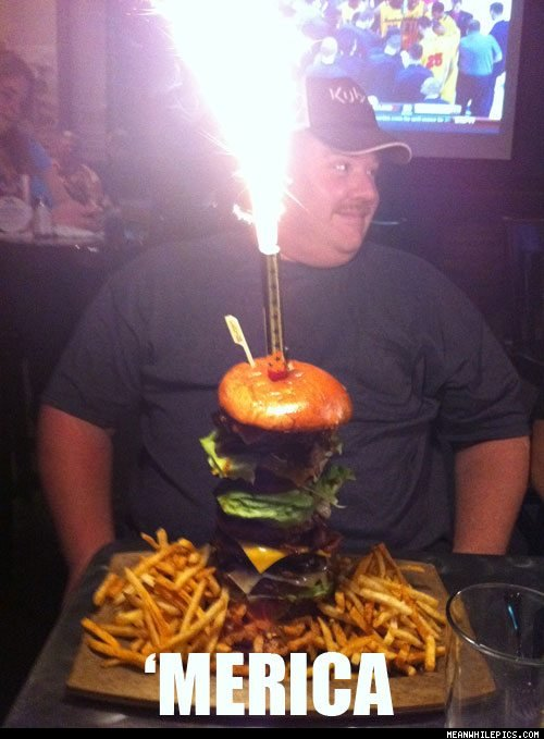 "Burger. Fries. Fireworks. ""MERICA!"