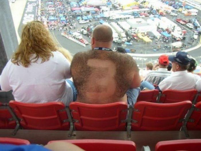 Hairy NASCAR fan