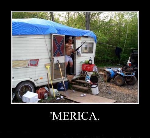 Trailer demotivation poster - MERICA!